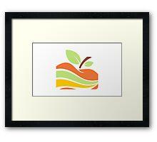 apple-in-piece-color-logo Framed Print