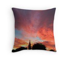 Summer California Sunset Throw Pillow