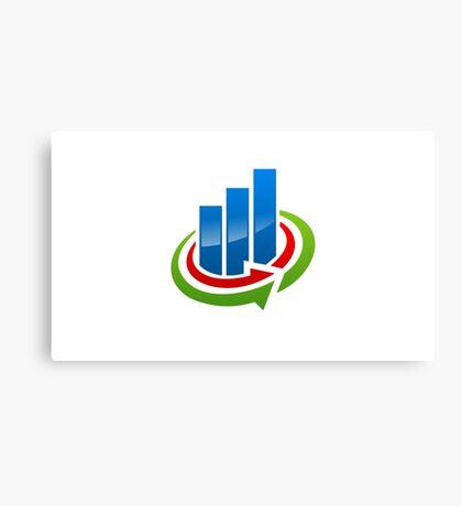business-chart-grow-logo Canvas Print