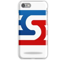 abstract-blue-and-red--logo iPhone Case/Skin