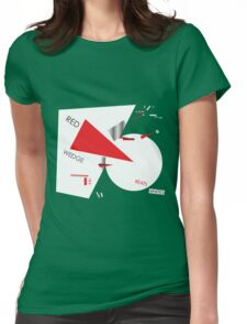 Beat the Whites with the Red Wedge Womens Fitted T-Shirt