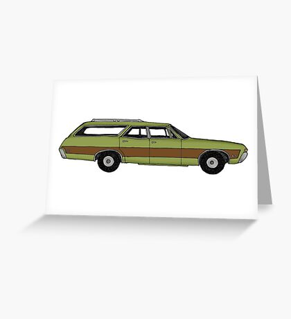 Retro Station wagon Greeting Card