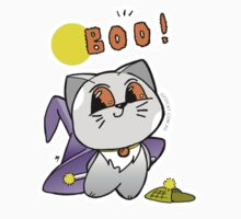 Cat Halloween Cute Boo by Natalie Cat