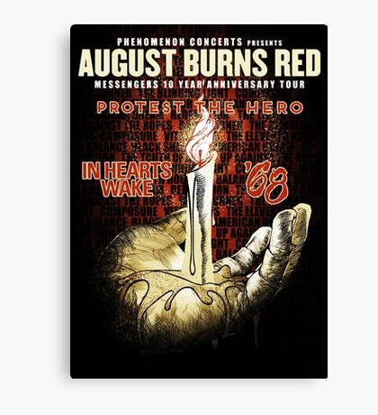 august burns red protest the hero tour 2017 Canvas Print
