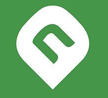 NAiA Logo - White on Light Green by NAiAcrypto
