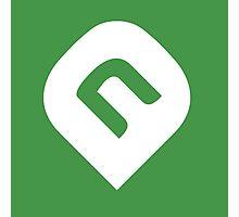 NAiA Logo - White on Light Green Photographic Print