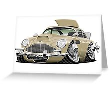 James Bond Aston Martin DB5 caricature Greeting Card