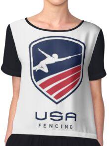 US Fencing Chiffon Top