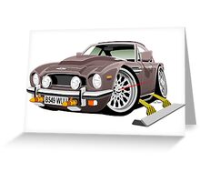 James Bond Aston Martin AM V8 caricature Greeting Card