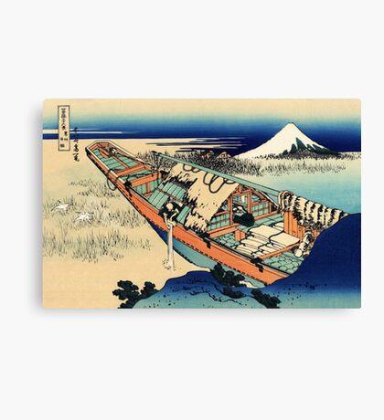 View of Mount Fuji in Hitachi Provence  Canvas Print
