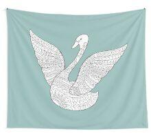 zen swan Wall Tapestry