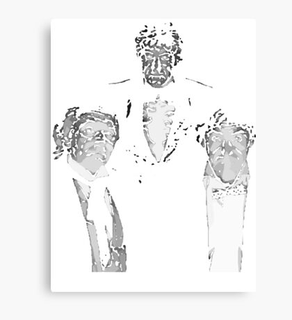 one two three Canvas Print