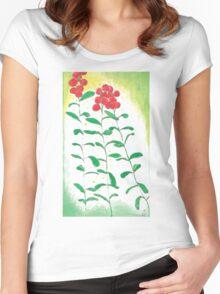 Lingonberries vector Women's Fitted Scoop T-Shirt