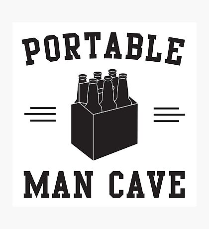 6 Pack - Portable Man Cave Photographic Print