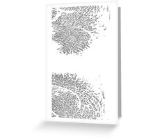 BW Abstract Leaf Greeting Card