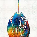 Colorful Horseshoe Crab Art by Sharon Cummings by Sharon Cummings