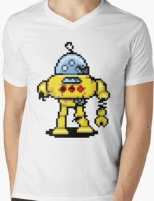RoboPix Mens V-Neck T-Shirt