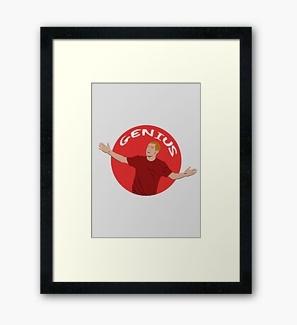 Paul Scholes - Genius - Illustration Framed Print