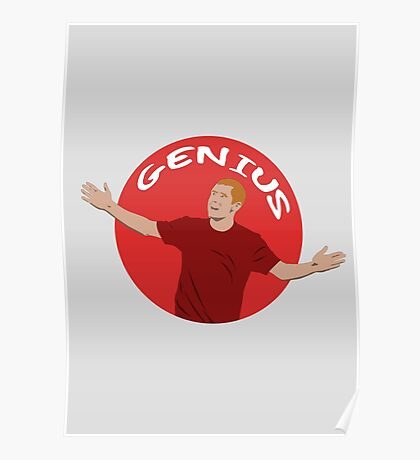 Paul Scholes - Genius - Illustration Poster