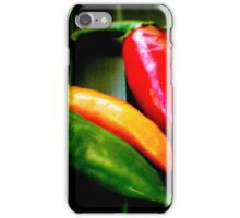 Lineup of Chilies iPhone Case/Skin