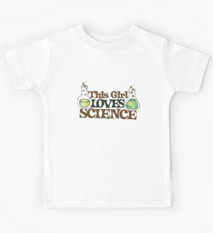This girl loves Science  Kids Tee