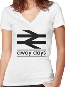 Away Day Culture Women's Fitted V-Neck T-Shirt