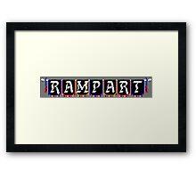 Rampart (NES Title Screen) Framed Print