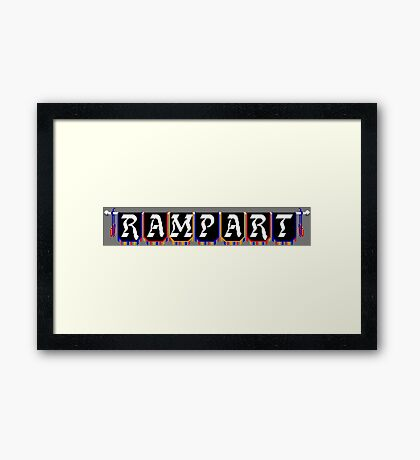 Rampart (NES Title Screen) Framed Print