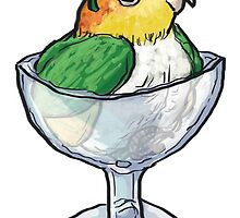 White Bellied Caique Sorbet by itsonlyanna