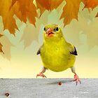 Autumn Goldfinch by littlecritters