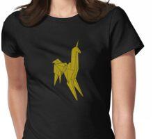 Blade Runner - Gold Texture Unicorn Womens Fitted T-Shirt