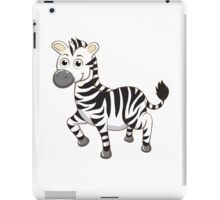 Cute cartoon zebra iPad Case/Skin