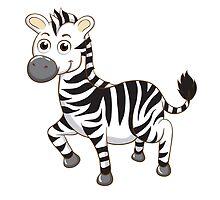 Cute cartoon zebra by berlinrob