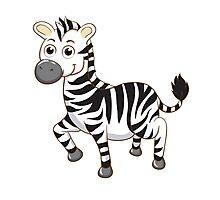 Cute cartoon zebra Photographic Print