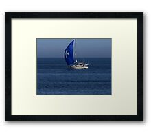Sailing in Quebec Framed Print