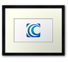 alphabet-C-abstract-icon Framed Print