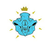 Skull Crown Blue Photographic Print