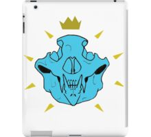 Skull Crown Blue iPad Case/Skin
