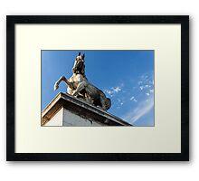 Parisian Statue Framed Print
