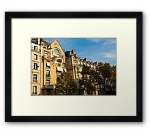 Parisian architecture Framed Print