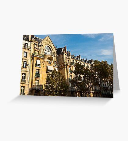 Parisian architecture Greeting Card