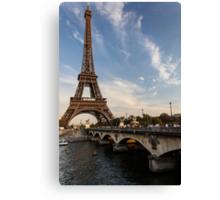 Tour Eiffel et Pont d'Iéna Canvas Print
