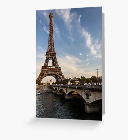 Tour Eiffel et Pont d'Iéna Greeting Card