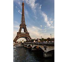 Tour Eiffel et Pont d'Iéna Photographic Print
