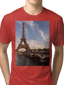 Tour Eiffel et Pont d'Iéna Tri-blend T-Shirt