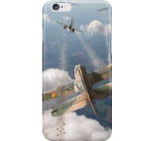 Headlong attack (Hurricanes over Dorset) iPhone Case/Skin