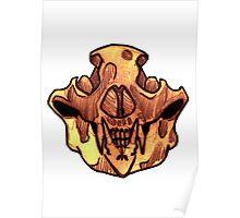 BONE-Bear Skull Poster