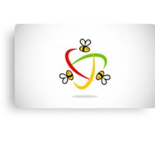 bee-flying-circle-logo Canvas Print