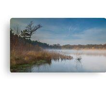 Misty morning, Boldermere Lake Canvas Print