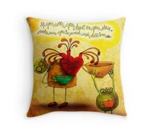 What my #Coffee says to me - October 24, 2014 Throw Pillow
